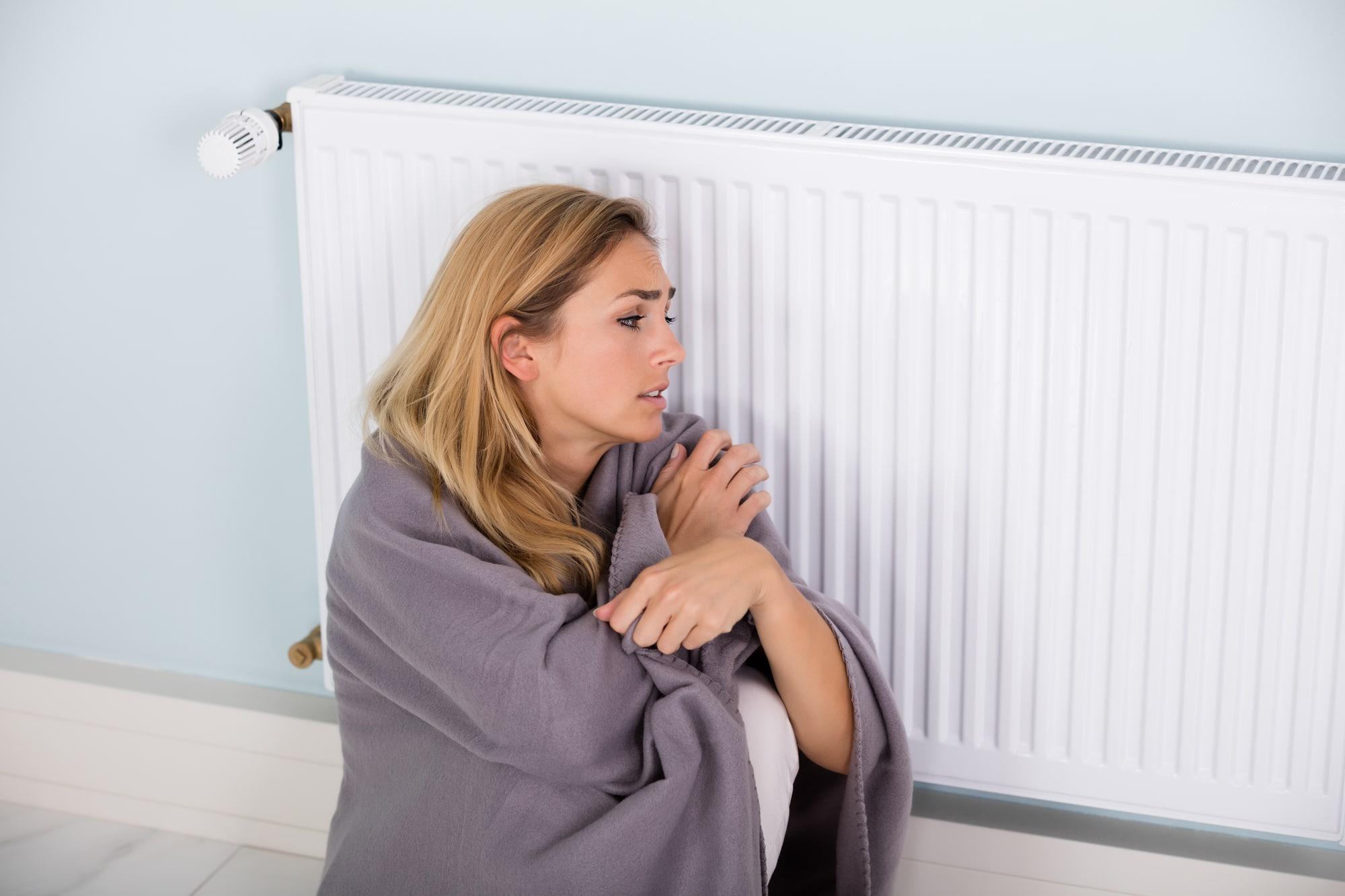 ingen varme i radiatoren